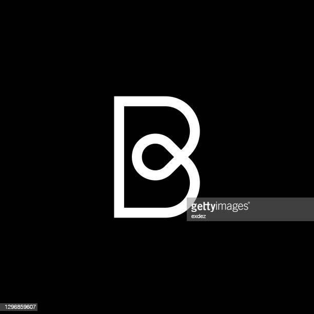 illustrazioni stock, clip art, cartoni animati e icone di tendenza di carattere b: lettera logo - lettera b