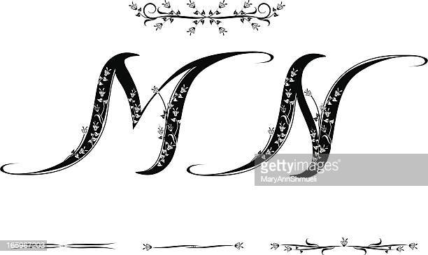letter m and n - letter m stock illustrations, clip art, cartoons, & icons