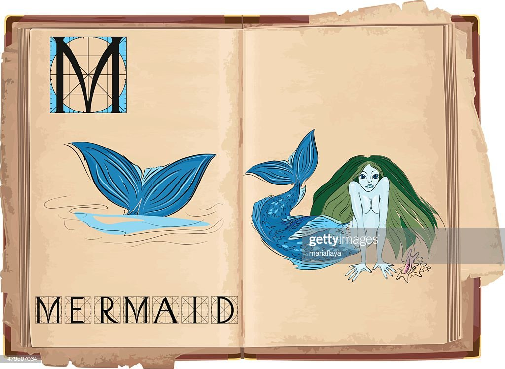 letter M with Mermaid
