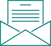 Letter mail icon message business send address sign vector outline