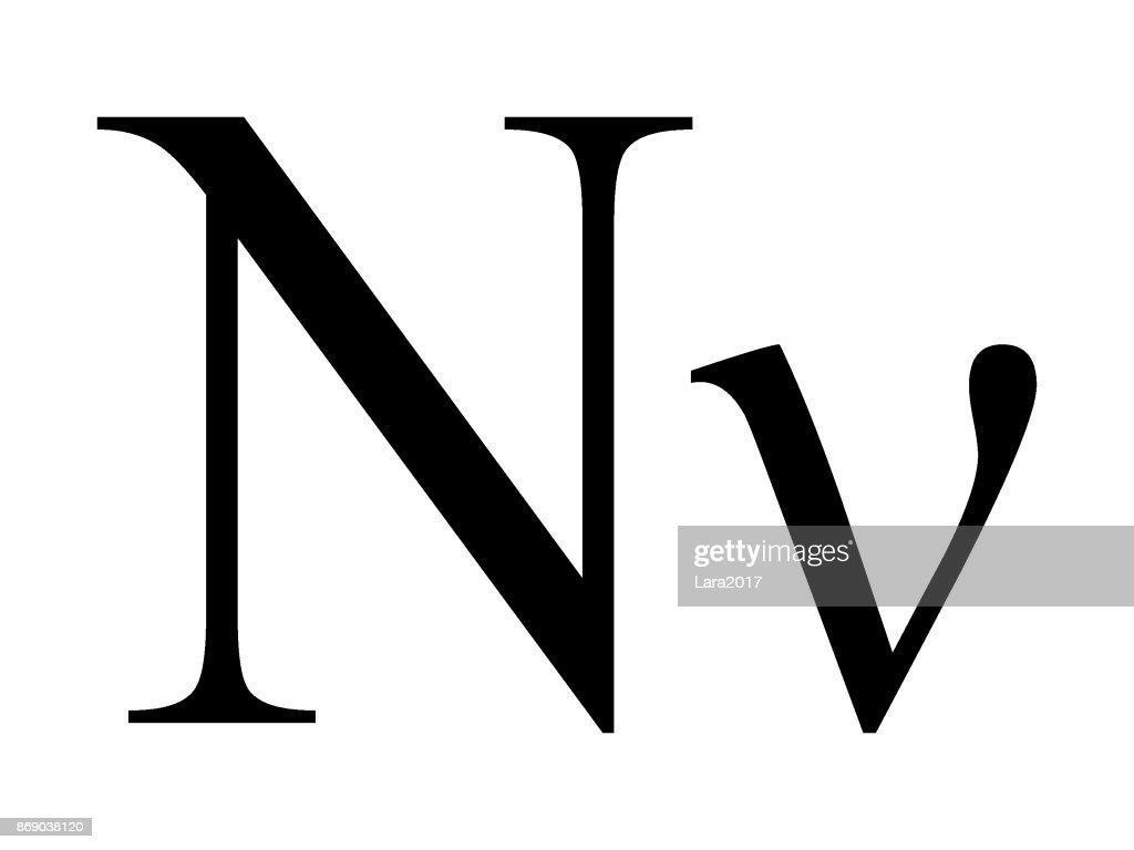 Letter Nu
