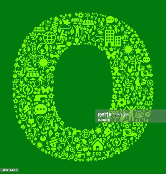 Letter O Environmental Conservation and Nature interface icon Pattern