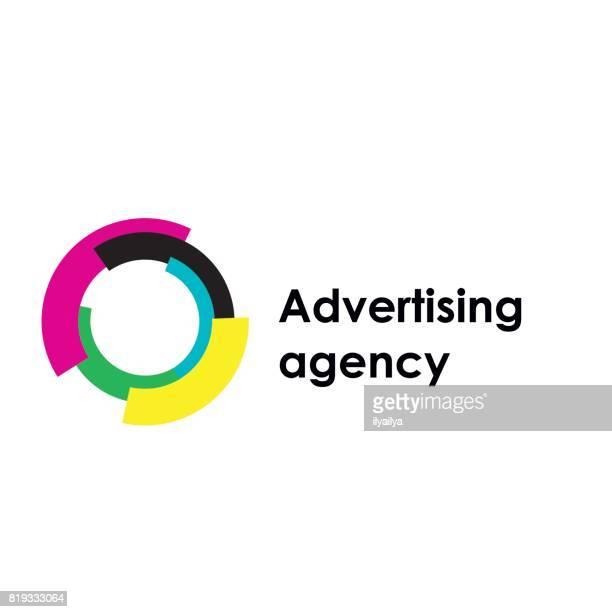 stockillustraties, clipart, cartoons en iconen met o vector letterpictogram. reclamebureau - orbiting