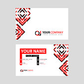 Letter OI logo in black which is included in a name card or simple business card with a horizontal template. IO Logo Concept illustration can be use for, landing page, website, mobile app, poster, flyer, coupon, gift card, smartphone template, web design