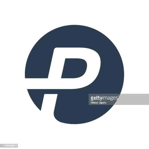 letter p logo icon - logo stock illustrations