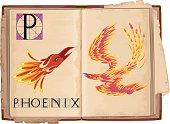letter P with Phoenix