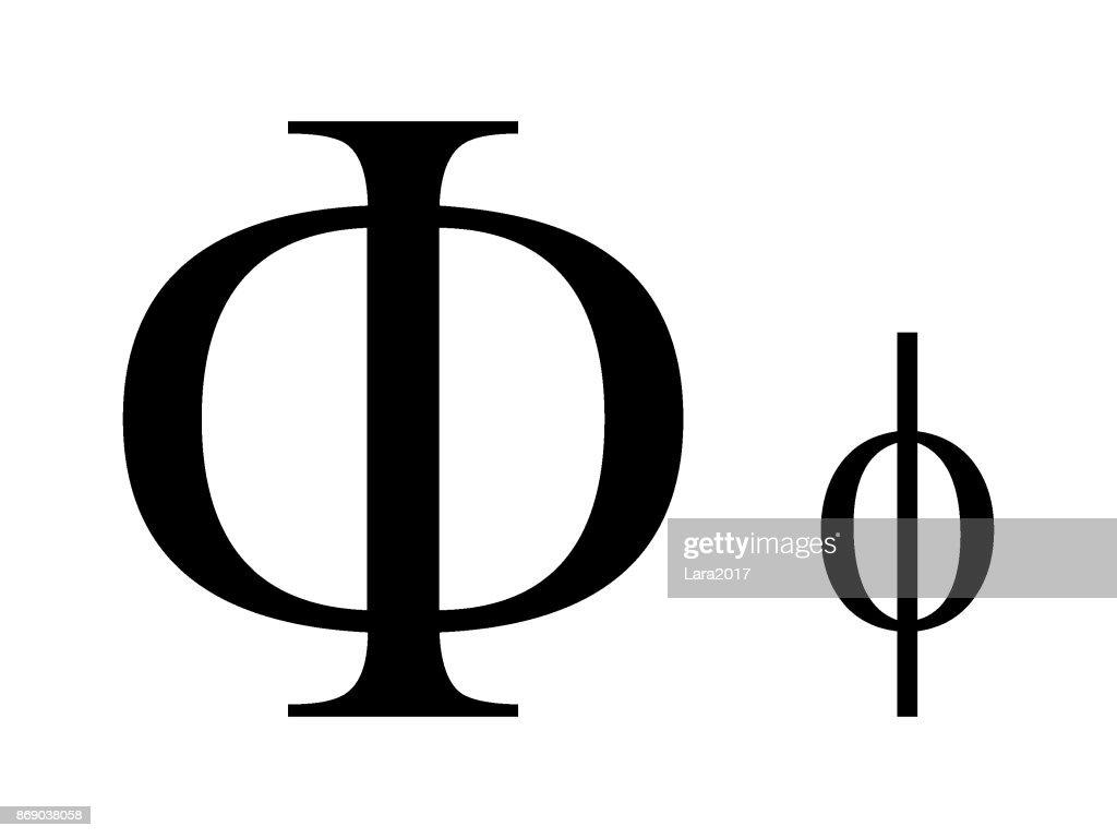 Letter Phi
