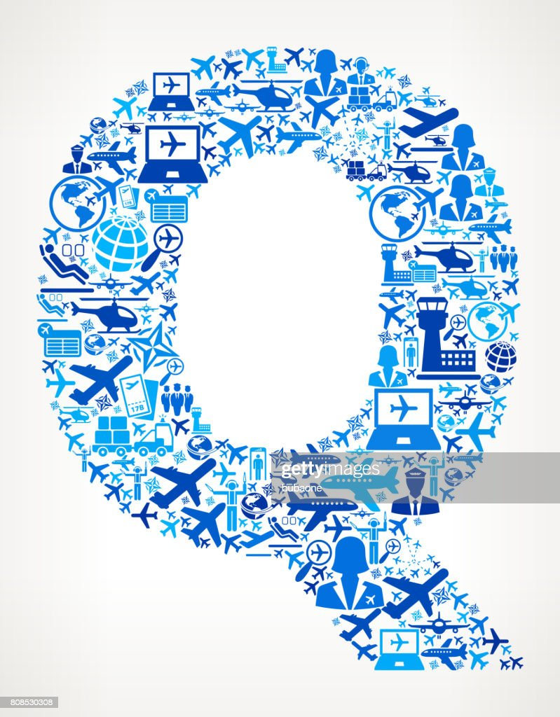 Letter Q Aviation and Air Planes Vector Graphic : stock illustration