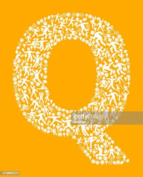 illustrazioni stock, clip art, cartoni animati e icone di tendenza di lettera q fitness sport e l'esercizio modello vettoriale sfondo - q and a