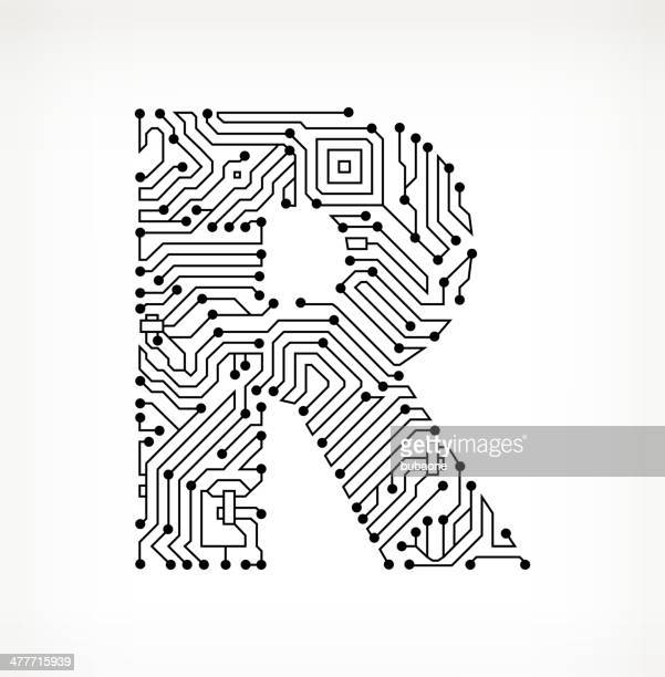 letter r stock illustrations and cartoons
