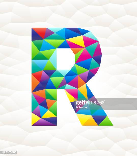 letter r on triangular pattern mosaic royalty free vector art - free mosaic patterns stock illustrations