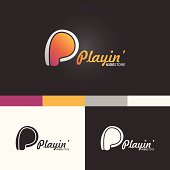 P Letter Symbol Template. Vector Elements. Brand Icon Design Illustration