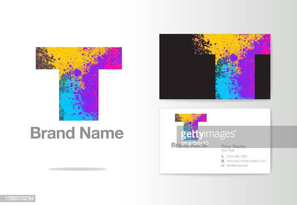 ilustrações de stock, clip art, desenhos animados e ícones de letter t creative design or corporate identity - letra t