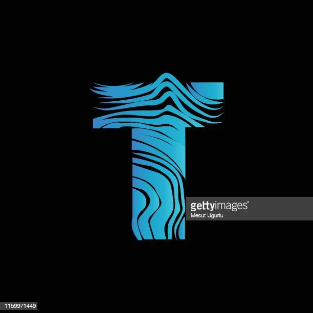 ilustrações de stock, clip art, desenhos animados e ícones de letter t logo design template - letra t