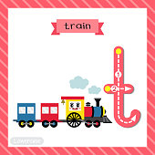 Letter T lowercase tracing. Train