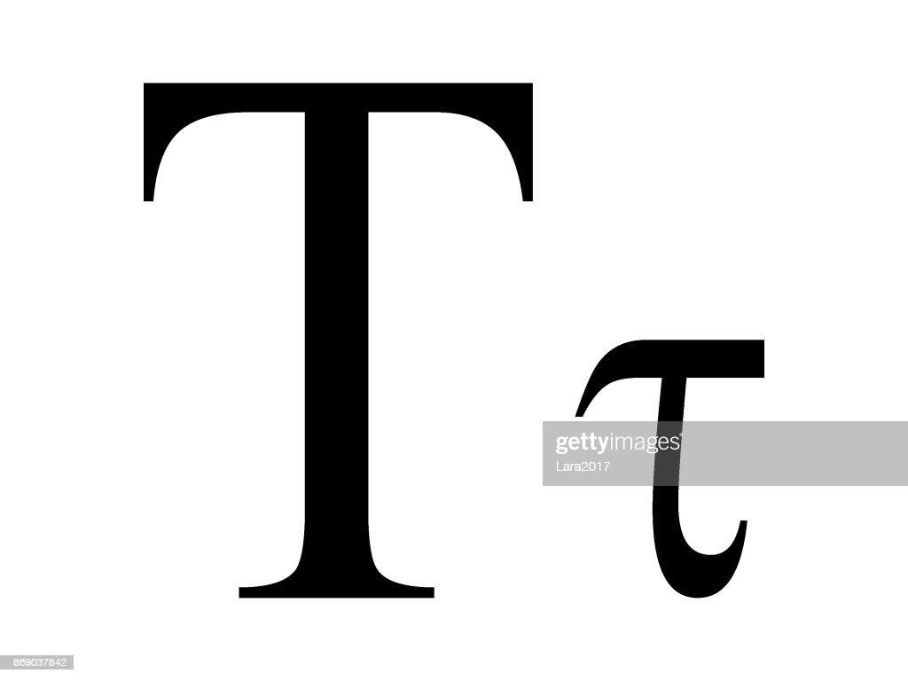 Letter Tau