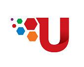 Letter U Template Design Vector, Emblem, Concept Design, Creative Symbol, Icon