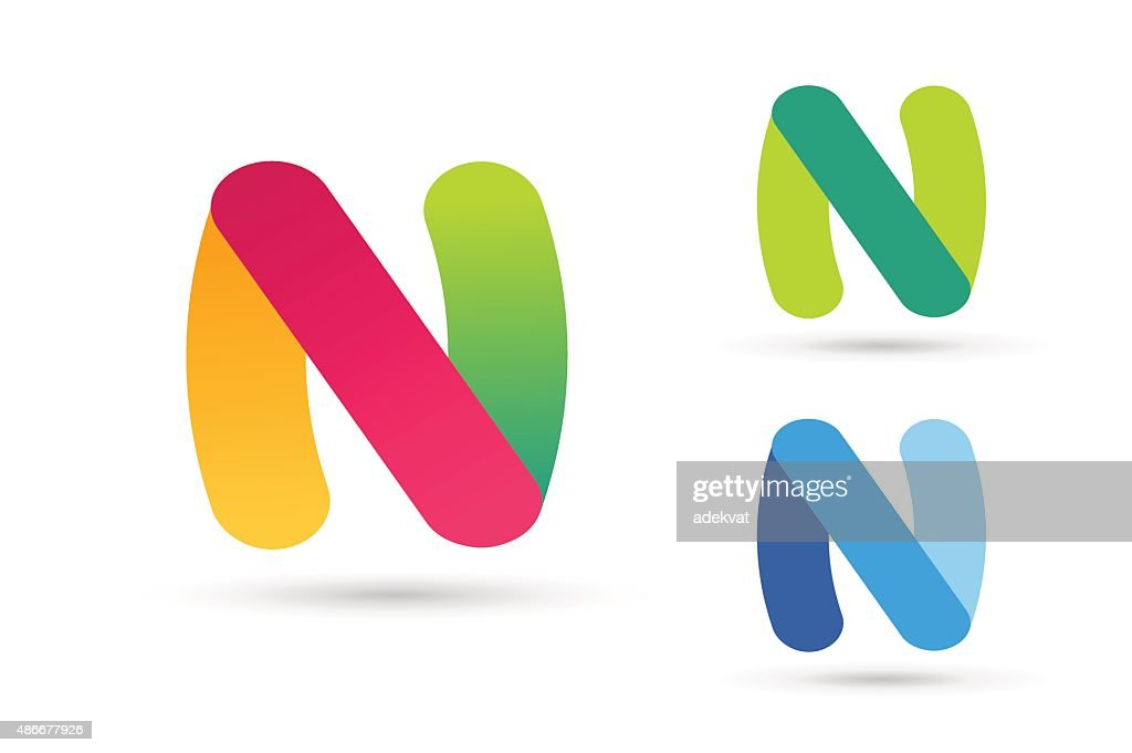 N letter vector icon template