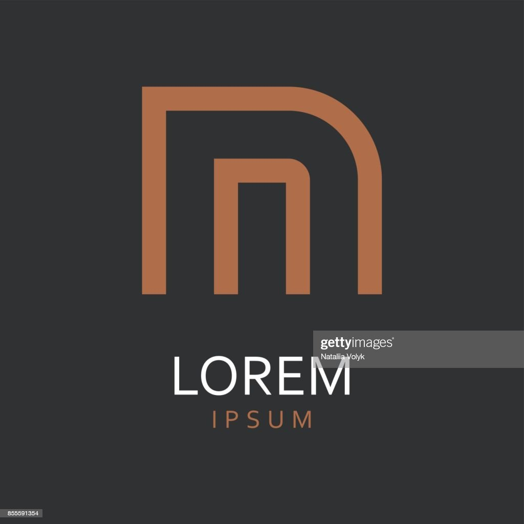 N Letter. Vector Icon