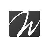 Letter W sign vector design