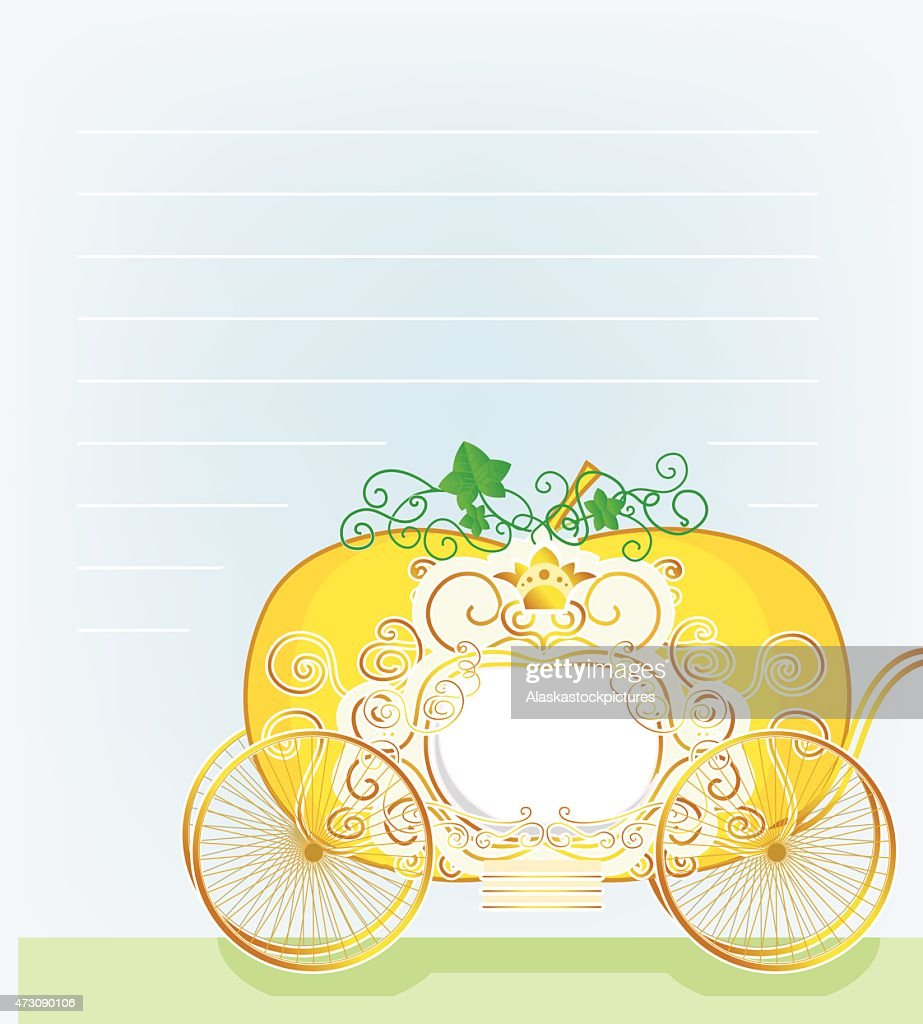 Letter with pumpkin-carriage