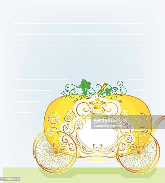 レター、パンプキン-馬車 - 四輪馬車点のイラスト素材/クリップアート素材/マンガ素材/アイコン素材