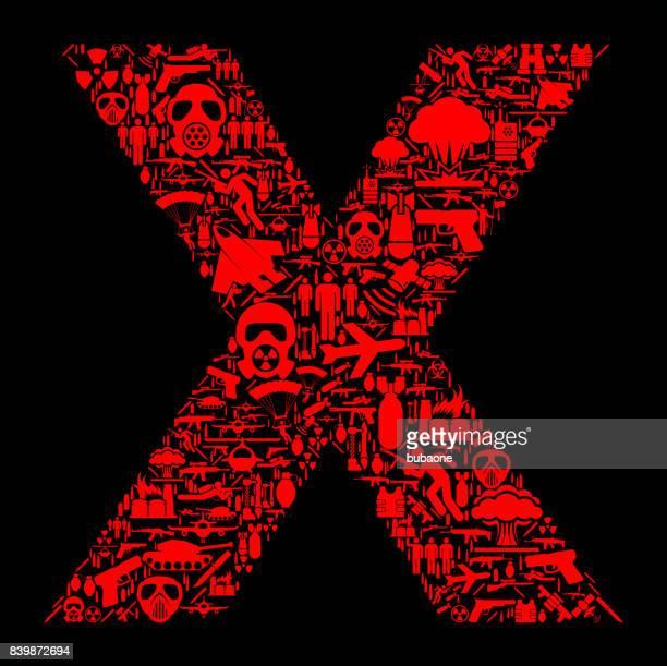 手紙 x 戦争とモダンウォー フェア ベクトル アイコン パターン - military attack点のイラスト素材/クリップアート素材/マンガ素材/アイコン素材