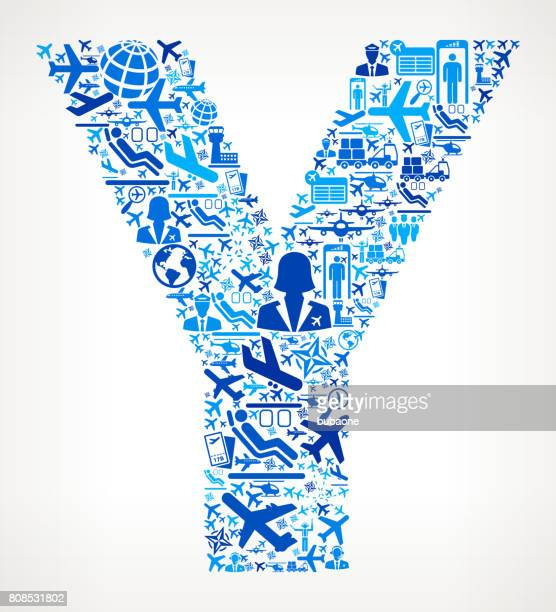 Letter Y Aviation and Air Planes Vector Graphic