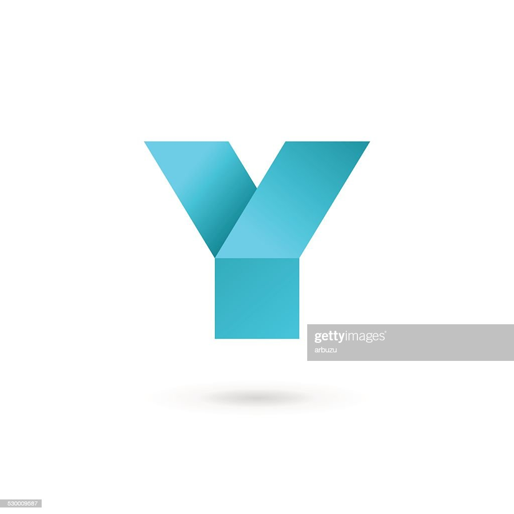 Letter Y icon design template elements