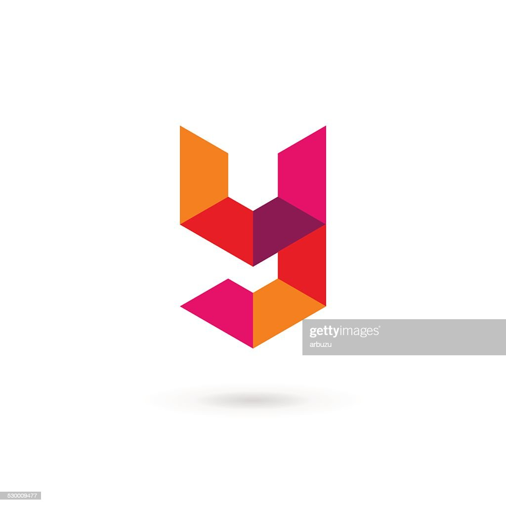 Letter Y mosaic icon design template elements
