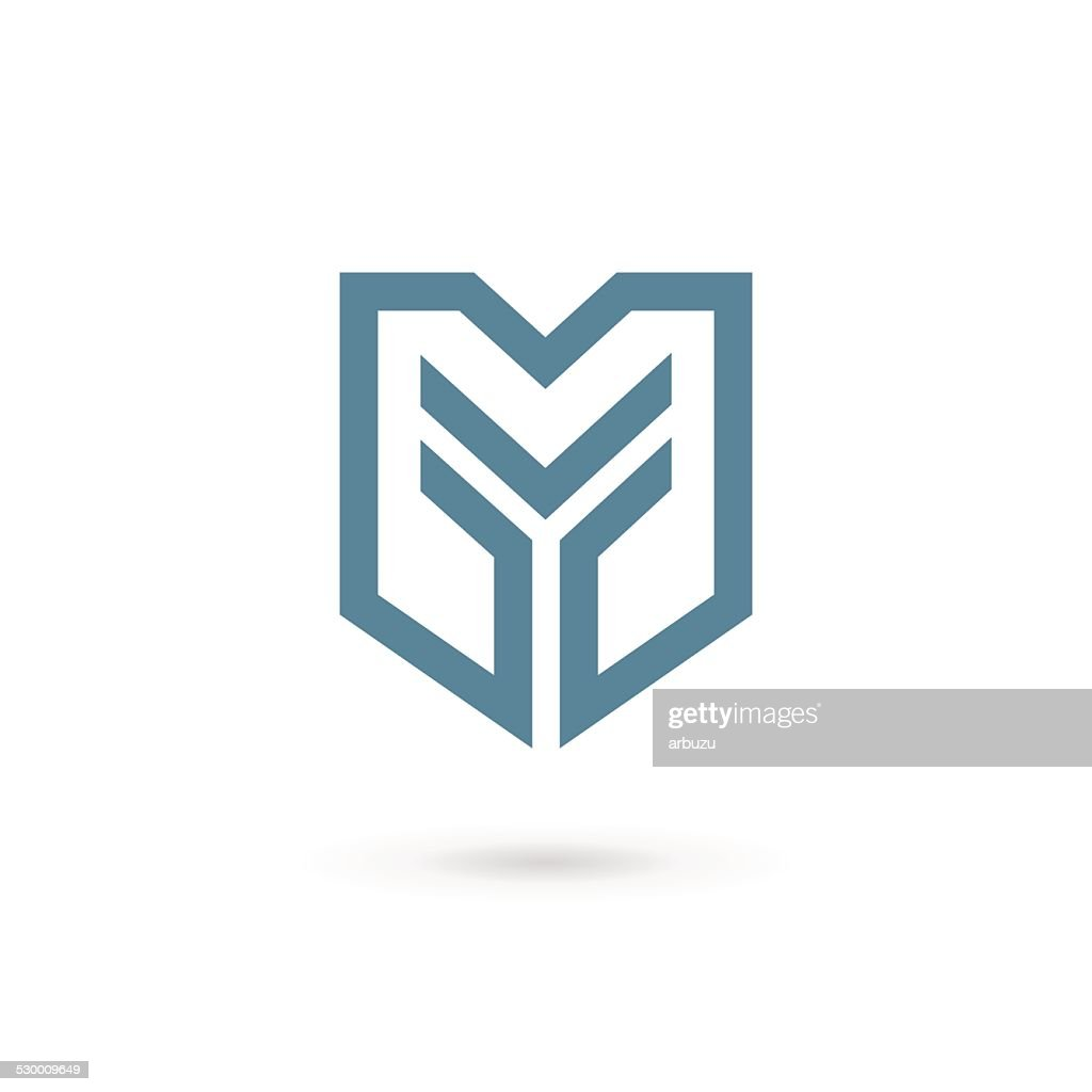 Letter Y shield icon design template elements