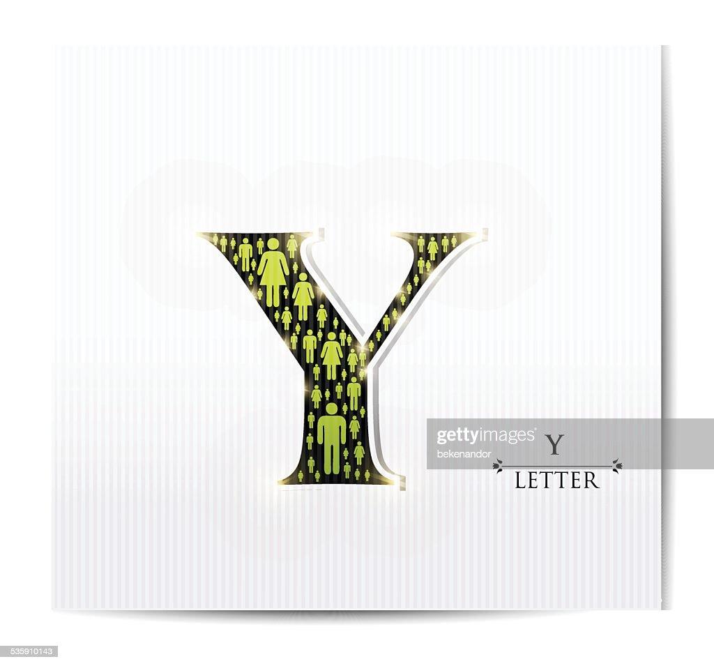 Letra Y : Arte vetorial