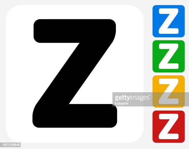 Letter Z Icon Flat Graphic Design