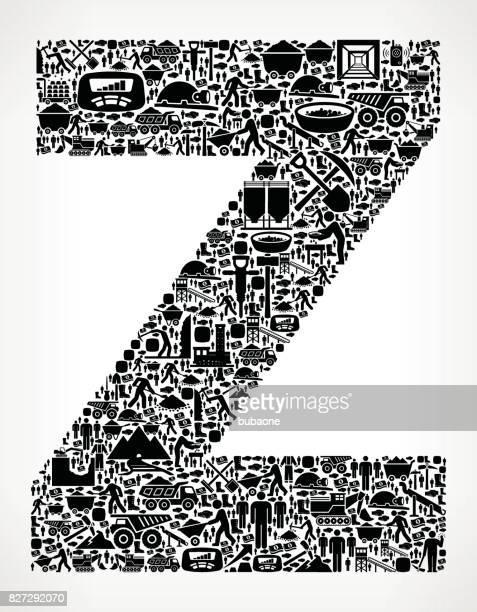 stockillustraties, clipart, cartoons en iconen met letter z mijnbouw industrie vectorafbeelding - generation z