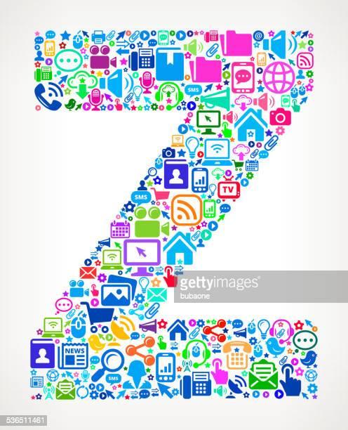Letter Z Modern Technology royalty free vector art Pattern
