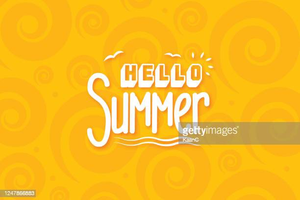 lettering composition of summer vacation stock illustration - fun stock illustrations