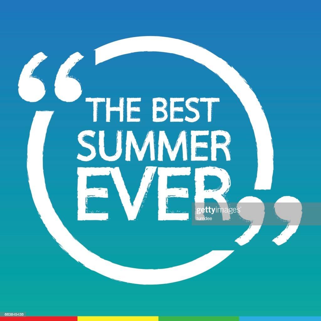 THE BEST SUMMER EVER Lettering Illustration design