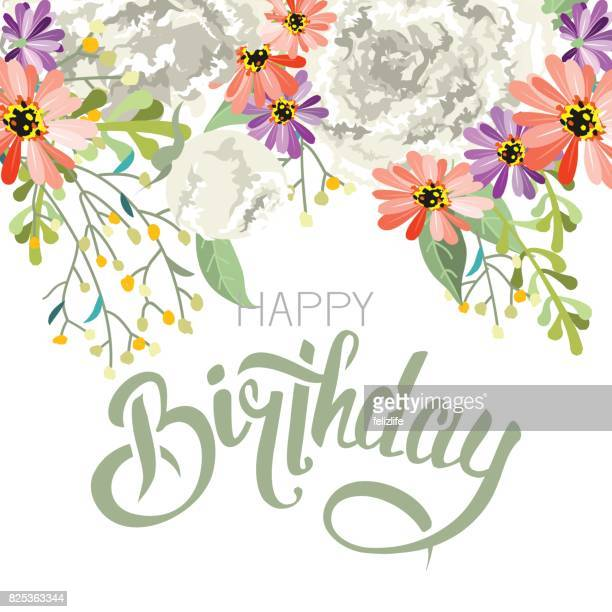 """Lettering """"invitation"""" with flowers"""