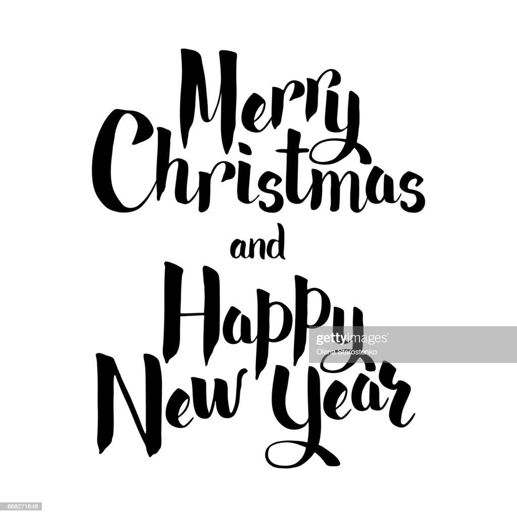 Schriftzug Frohe Weihnachten.Schriftzug Frohe Weihnachten Und Neujahr Hppy Frohe