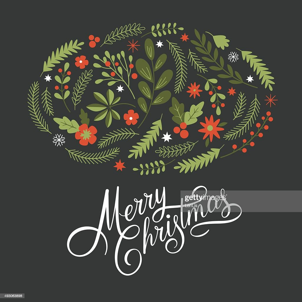 lettering Merry Christmas