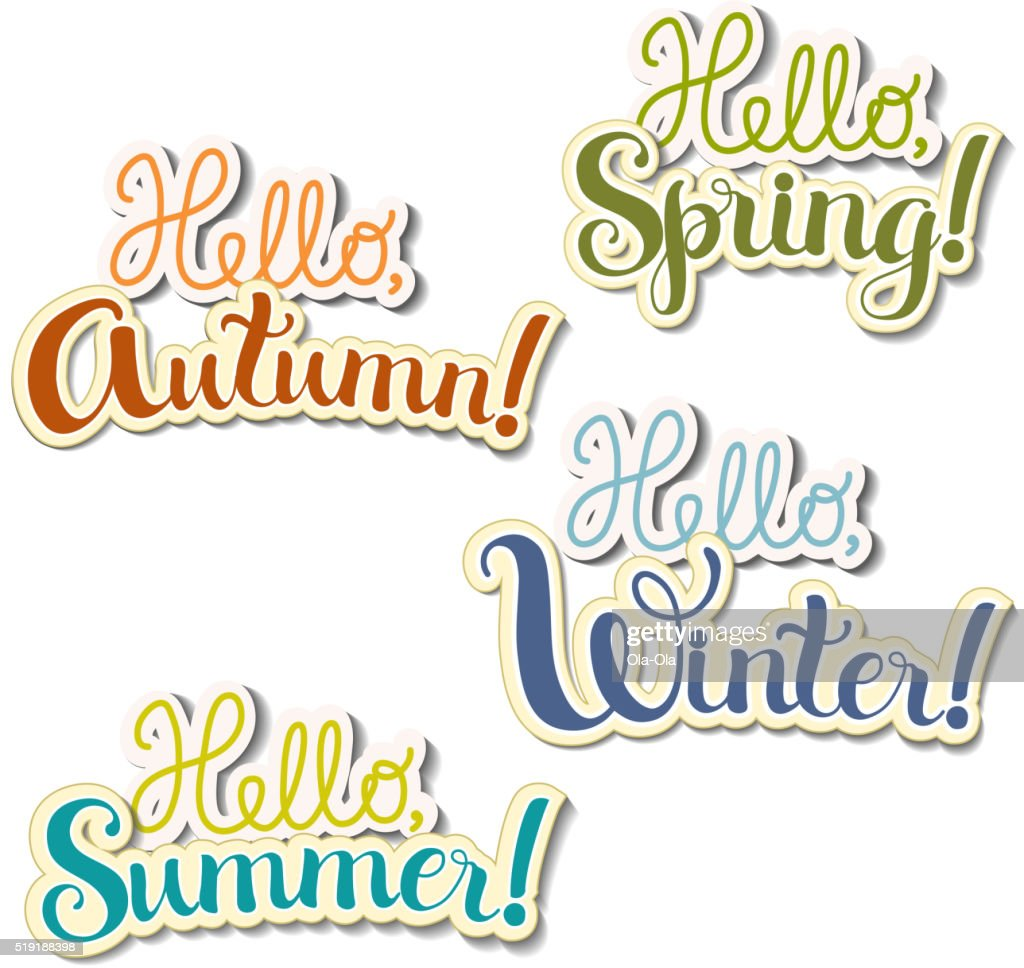 Lettering seasons theme