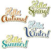 Lettering seasons theme