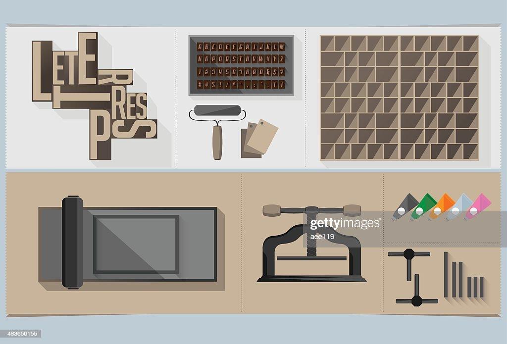 Letterpress Graphic Elements