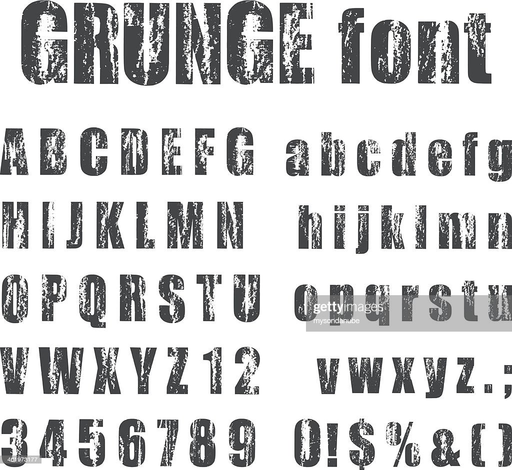 Letterpress grunge alphabets