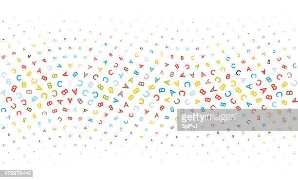Letras ABC textura de fundo de
