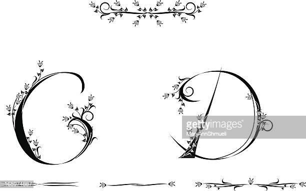 ilustrações, clipart, desenhos animados e ícones de letras c e d - letrac
