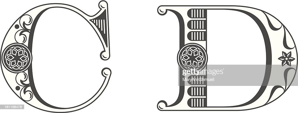 Letters C and D : stock illustration