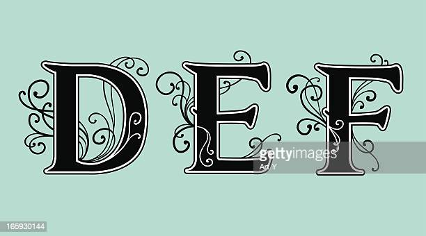 letters d e f - letter d stock illustrations, clip art, cartoons, & icons