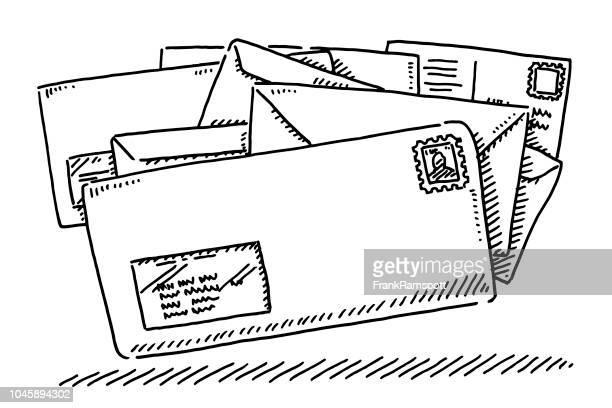 文字メール シンボル描画 - 手紙点のイラスト素材/クリップアート素材/マンガ素材/アイコン素材