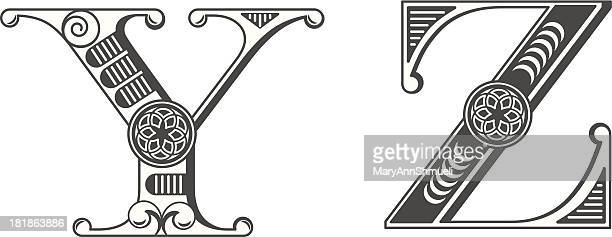 Letters Y and Z